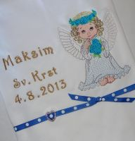 Newborn gift with Angel embroidery design