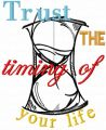 Trust the timing of your life embroidery design
