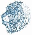 Severe lion embroidery design