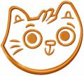 Funny cat face free embroidery design 5
