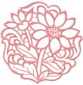 Chamomile cutwork free machine embroidery design