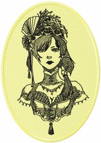 Old Vintage Story machine embroidery design