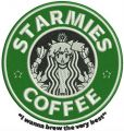 Starmies coffee embroidery design