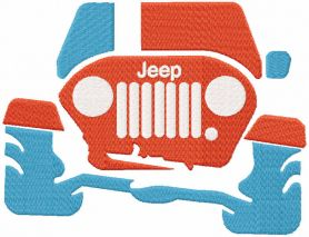 Jeep trip embroidery design