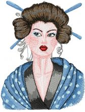 Geisha with Hairpin