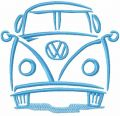 VW Volkswagen Bus free machine embroidery design
