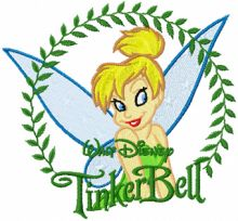 Tinkerbell in the Frame of the Leaves