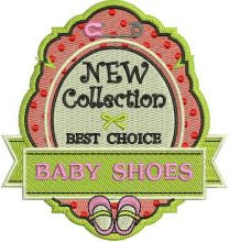 Baby shoes badge