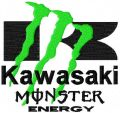 Kawasaki Monster Energy logo embroidery design