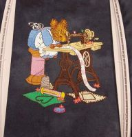 In hoop squirrel sewing embroidery design