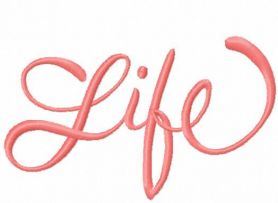 Life free embroidery design