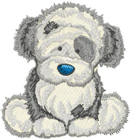Fluffy machine embroidery design