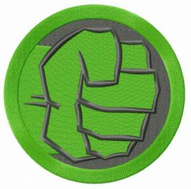 Hulk's fist machine embroidery design