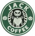 Jack coffee embroidery design