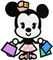 Minnie Shopping embroidery design