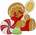 Tea time for gingerbread man 2 embroidery design