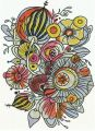 Flower composition 6 embroidery design