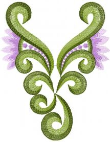 Swirl free embroidery design