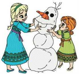 Making snowman machine embroidery design