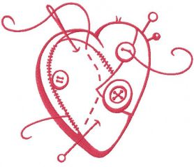 red sewing heart free machine embroidery design