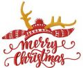 Funny Merry Christmas embroidery design