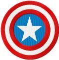 Captain America Shield  embroidery design