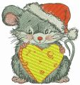 Happy mousekin embroidery design