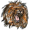 Lion 5 embroidery design