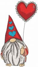 Romantic dwarf with red balloon
