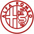 Alfa Romeo one colored logo embroidery design