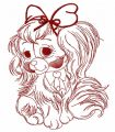 Cute English Cocker Spaniel 3 embroidery design