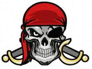 Angry pirate's skull 2