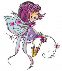 Young fairy 2 machine embroidery design
