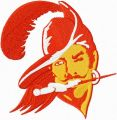 Tampa bay buccaneers old logo embroidery design