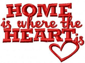 Home is where the heart free embroidery design