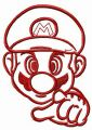 Plumber Mario embroidery design