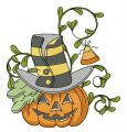 Halloween pumpkin 2 embroidery design