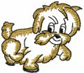 Funny little dog free machine embroidery design