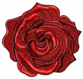 Dark red rose free embroidery design