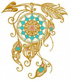 Dreamcatcher 14 machine embroidery design