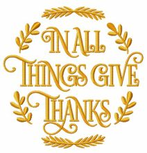 In all things give thanks emblem