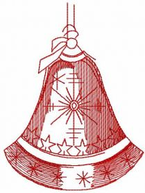 Christmas bell free embroidery design