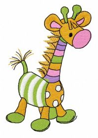 Toy giraffe machine embroidery design