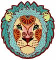 Zodiac sign Leo embroidery design