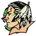Fighting Sioux logo embroidery design