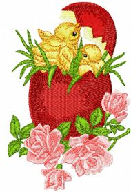 Easter Egg free machine embroidery design