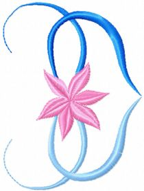 Flower Heart free machine embroidery design