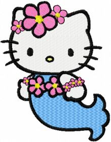 Hello Kitty Mermaid machine embroidery design