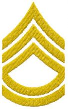 IS Army sergeant 1st class chevron