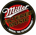 Miller filtered music logo embroidery design